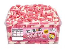 Sweetzone Strawberry Puffs Tub Of 600 (HALAL)